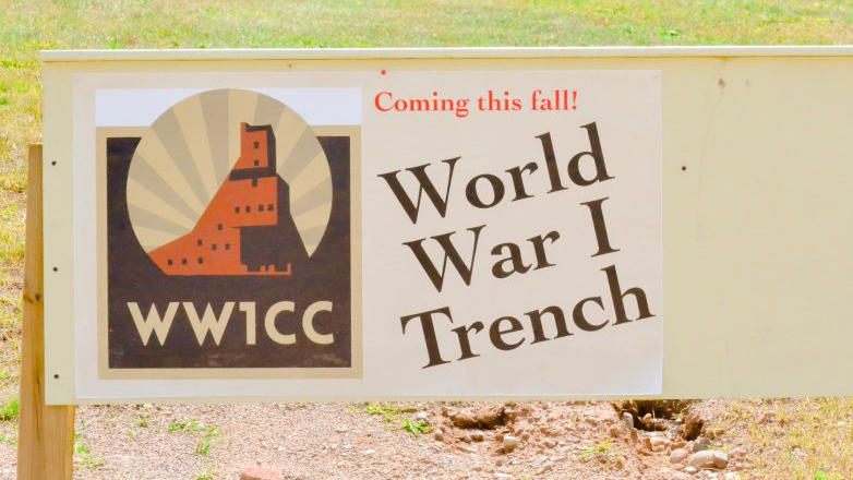 Michigan Tech WWI Trench