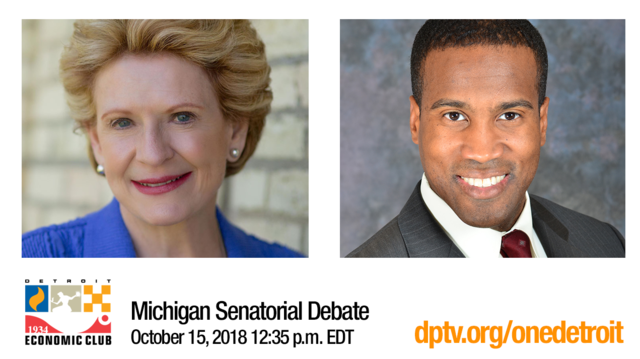 Michigan Senatorial Debate Oct. 15 12:35pm ET