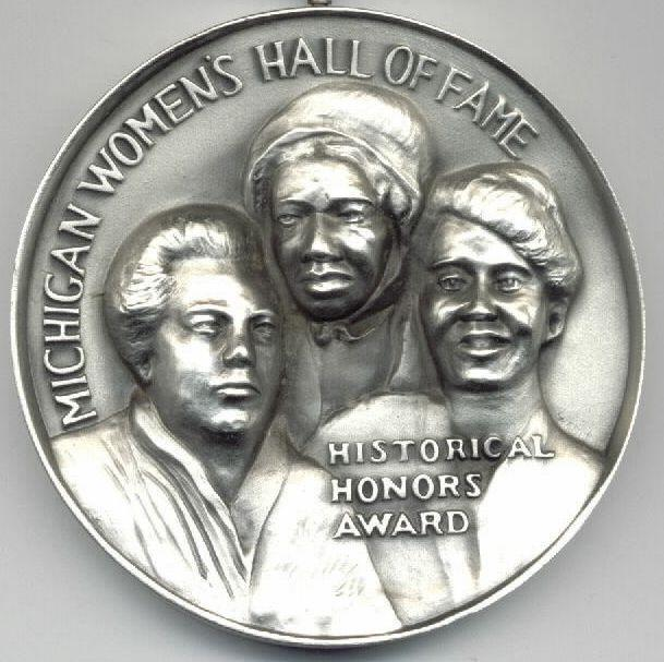 MI Women's Hall of Fame medallion