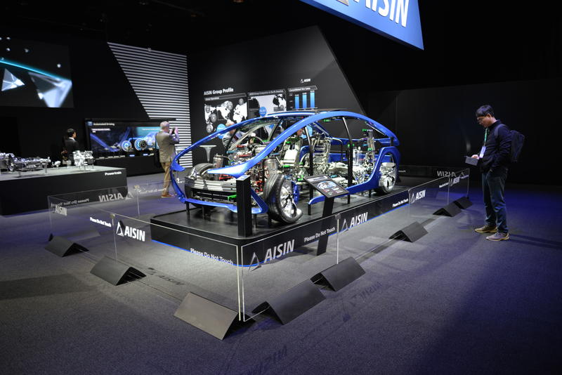 AISIN group's I-Mobility, a demonstration vehicke for automation technology.