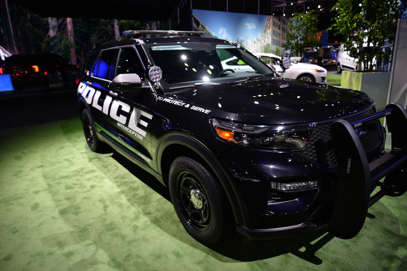 The 2019 Ford Interceptor. The latest model of the police vehicle.