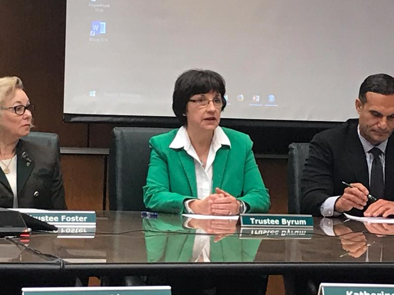 Trustee Dianne Byrum, the newly elected chairperson of the Michigan State University Board of Trustees.