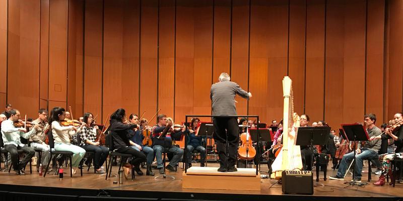 Yolanda Kondonassis in Rehearsal with Timothy Muffitt and the Lansing Symphony, Jan 2019