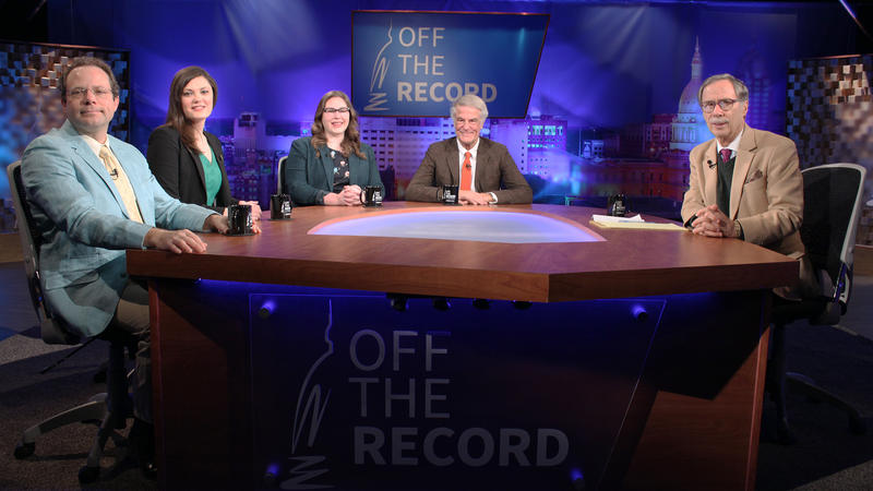 Kyle Melinn, Cheyna Roth, Emily Lawler and Bill Ballenger appearing on Off the Record with Tim Skubick.