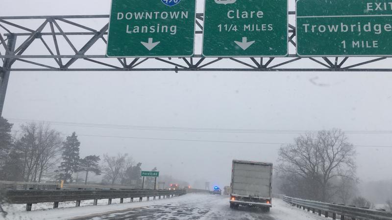 I-96 snow winter