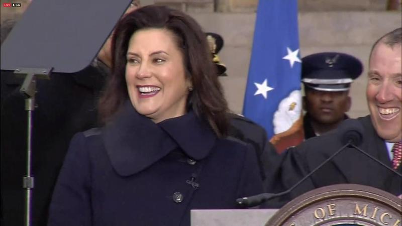 Gretchen Whitmer, inauguration