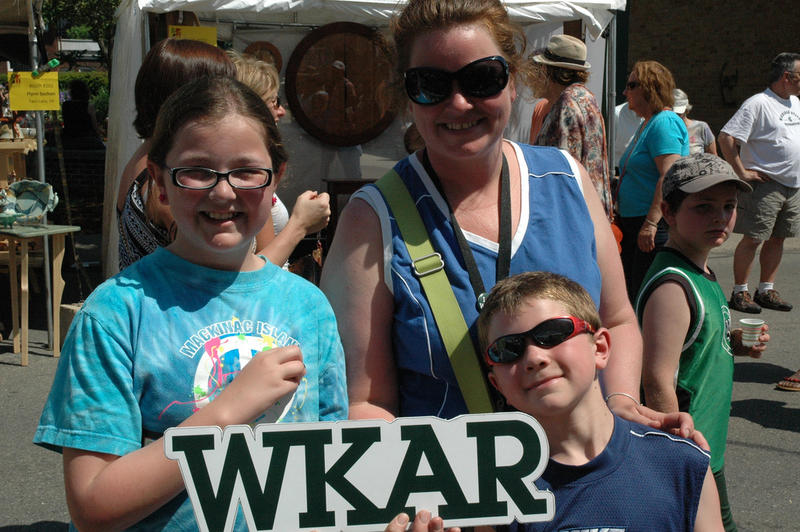 I Love WKAR - in Our Community at East Lansing Art Festival. May 2012.