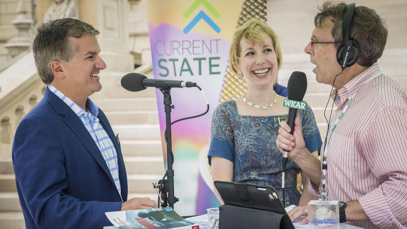 John Truscott and Valerie Marvin with Mark Bashore photo