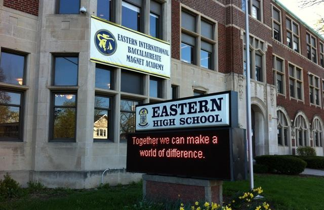 Moving 7th and 8th graders into Eastern High School is part of superintendent Yvonne Caamal Canul's restructuring plan.