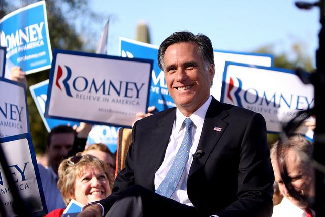 Mitt Romney on the campaign trail.