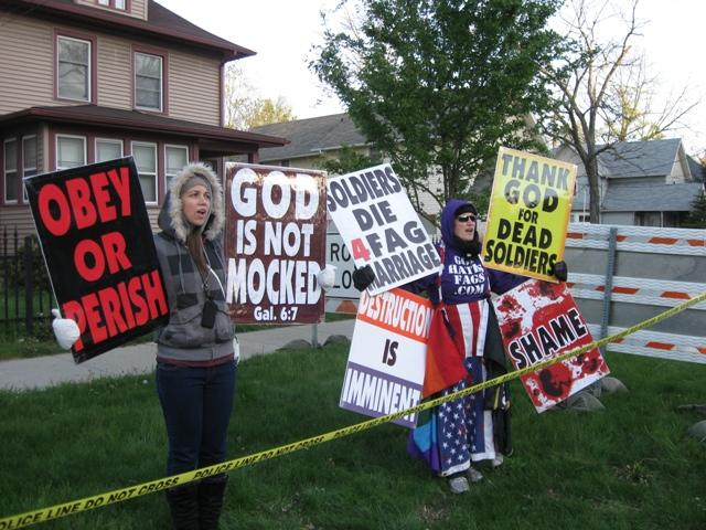 Members of the Westboro Baptist Church are known for their strong stance against homosexuality and for picketing military funerals.