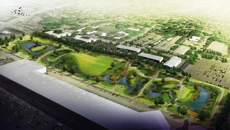 An artist's rendering of future improvements to Ranney Park on Lansing's east side.