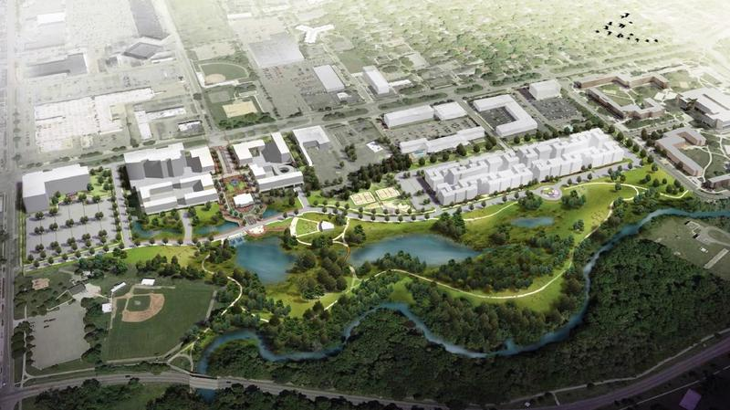 The Red Cedar Renaissance project is planned as a natural and commercial gateway between Lansing, East Lansing and MSU.