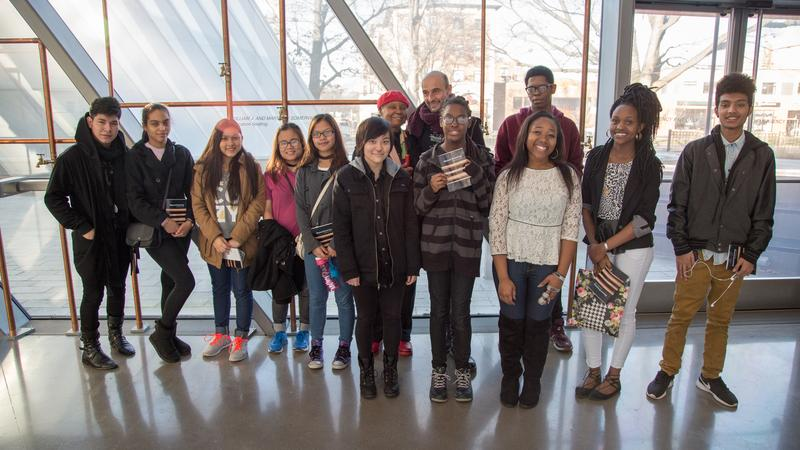 Students at the Broad Art Museum
