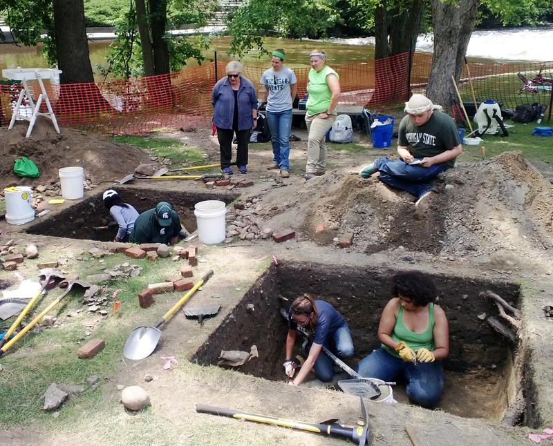 MSU archeological dig photo