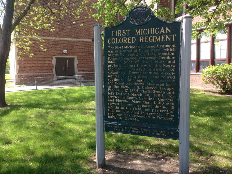 First Michigan Colored Regiment marker photo