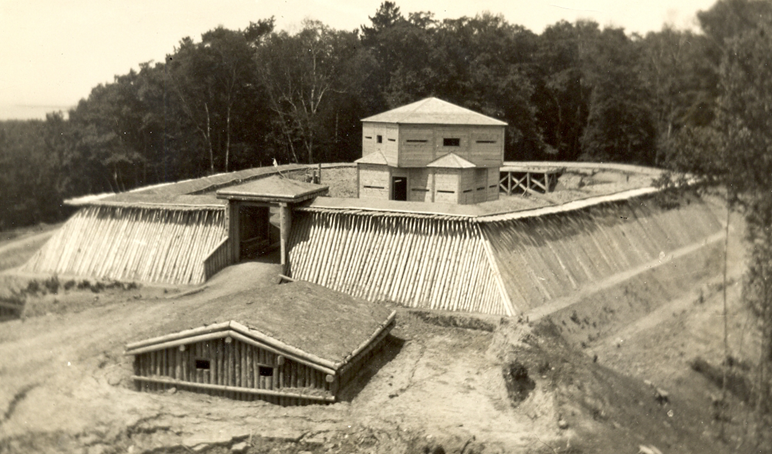Fort Holmes was reconstructed by the WPA in the 1930s, but has deteriorated in recent years.