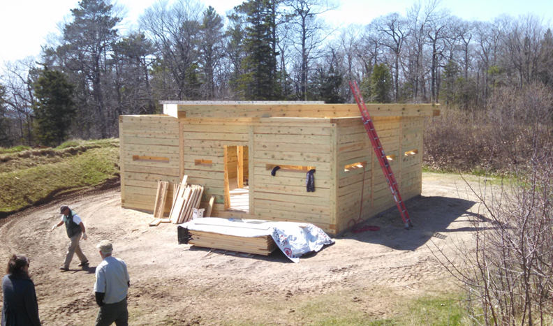 The reconstruction of Fort Holmes on Mackinac Island is now underway.