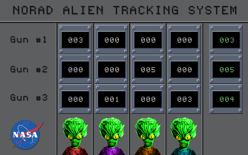 Green Invaders scoreboard image