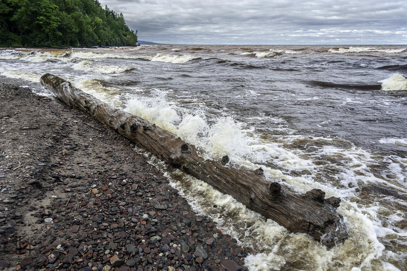 Lake Superior shore at Porcupine Mountains photo