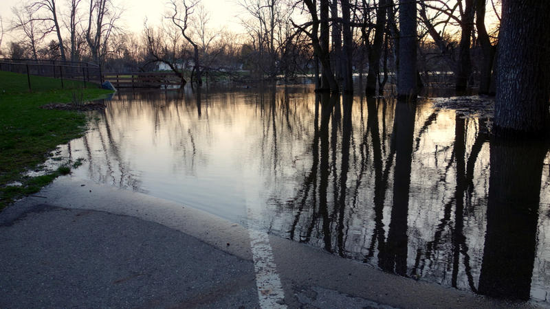 Lansing River Trail flooding photo