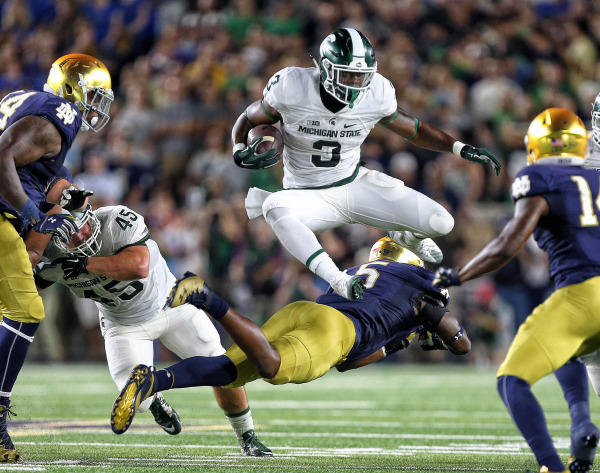 LJ Scott vs Notre Dame photo