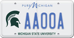 MSU license plate photo