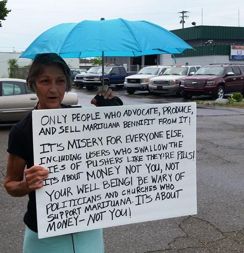 Rhonda Fuller protest photo
