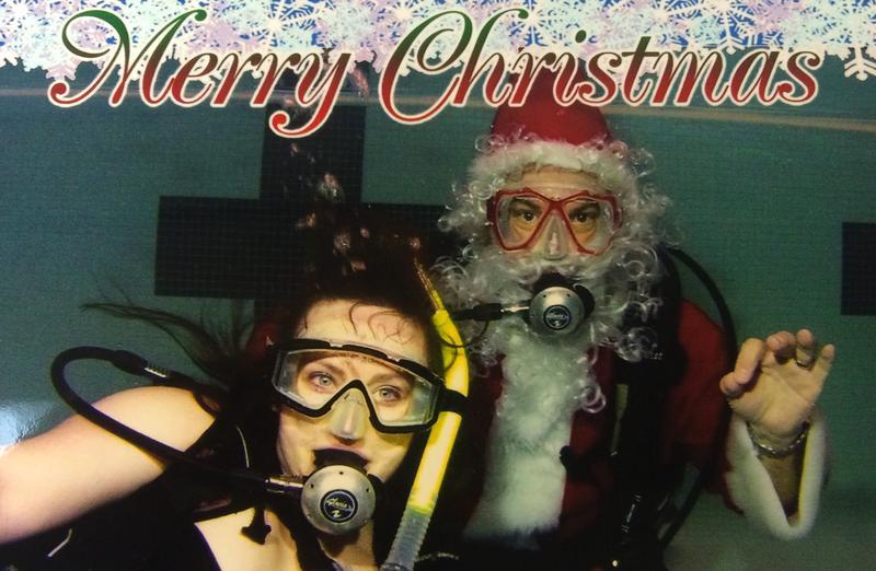 Santa scuba photo