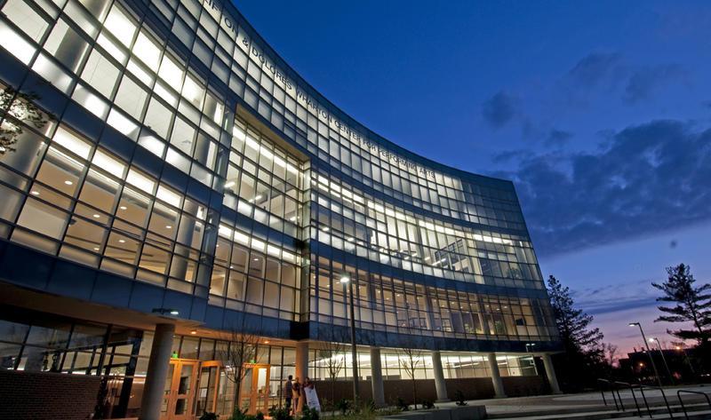 Wharton Center at night photo