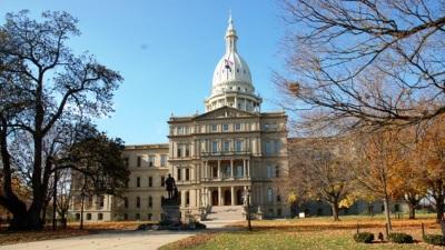 The Michigan Capitol.