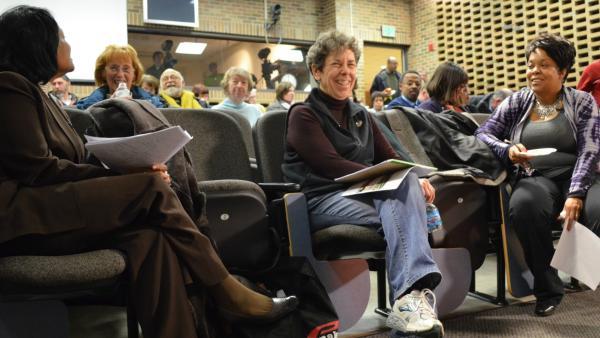 WKAR's Soul Food Junkies panelists prior to the screening.
