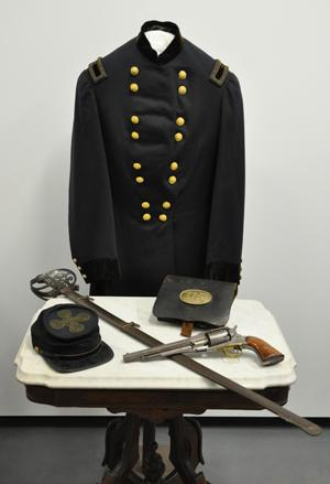 Uniforms and equipment are just some of the items on display at MSU Museum's 'Michigan in the Civil War' exhibit.