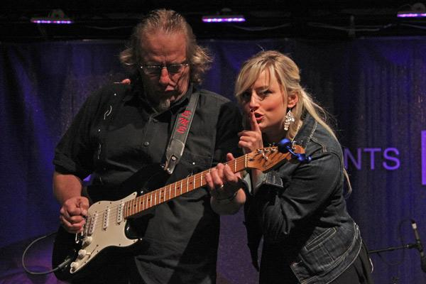 Sena Ehrhardt with her father and guitar player Ed Ehrhardt