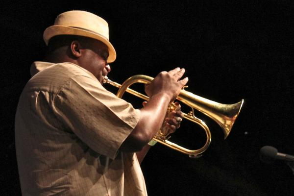 John Douglas playing fluegelhorn