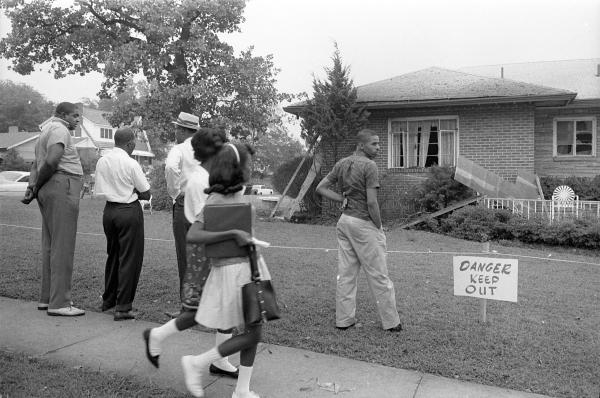 The Urban League was just one of many civil rights groups working in Alabama during the 1960s. Above, NAACP attorney Arthur Shores' Birmingham house after it was bombed in 1963.