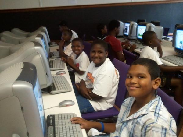 Students at classroom computers