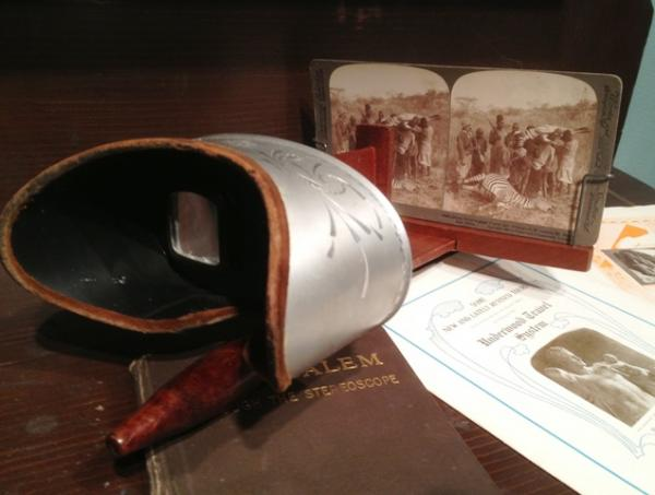 Stereoscopes were invented in the early 19th century.  They gave rise to the modern 3D technology now widely seen in the movies.