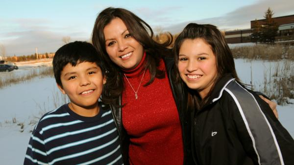 Robin Charboneau and her family