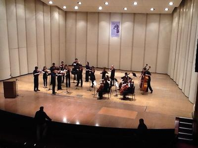 The Ann Arbor Pioneer High School performing Saturday prior to being named Grand Champion of the 2013 National Orchestra Festival in Rhode Island.