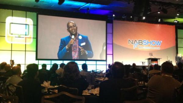At the NAB -- Randy Jackson