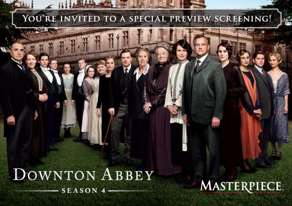 You are invited to a special preview screening - Downton Abbey Season 4
