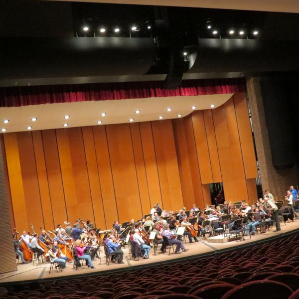 The St. Petersburg Philharmonic rehearses at MSU's Wharton Center