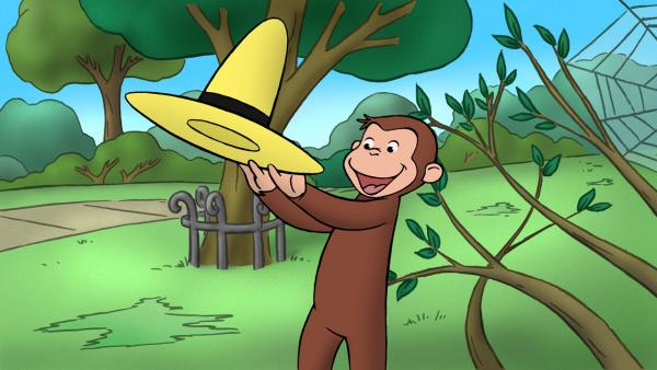 Curious George with big yellow hat