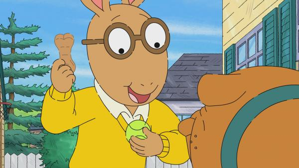 Arthur with a dog