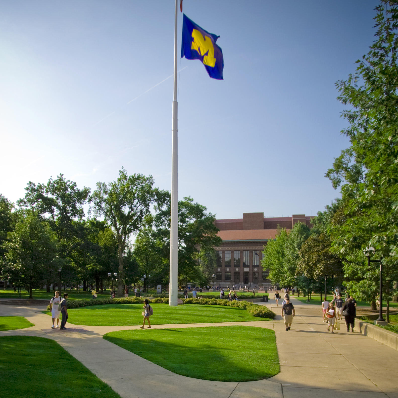 Diag on the University of Michigan campus