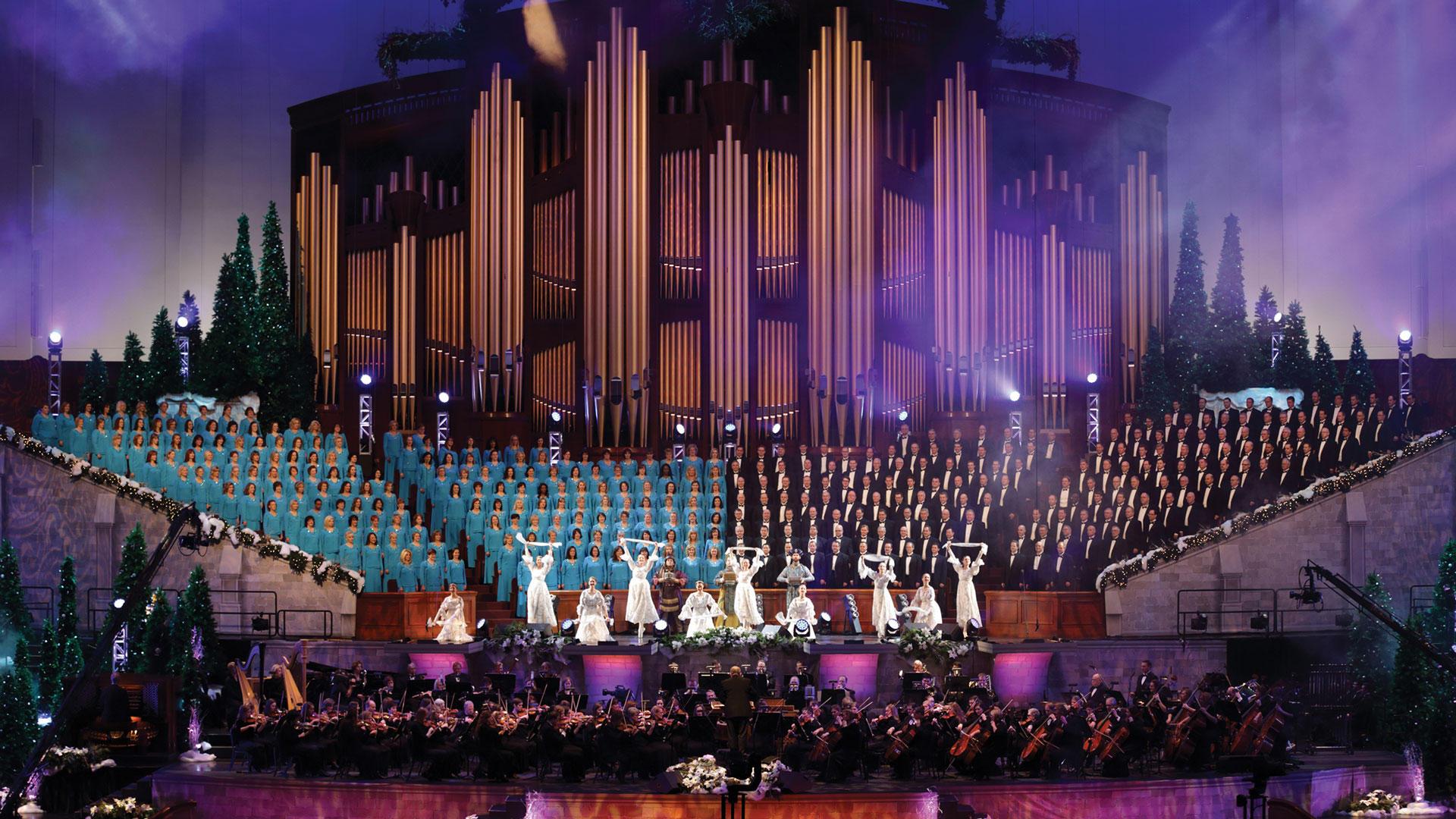 mormon tabernacle choir performing
