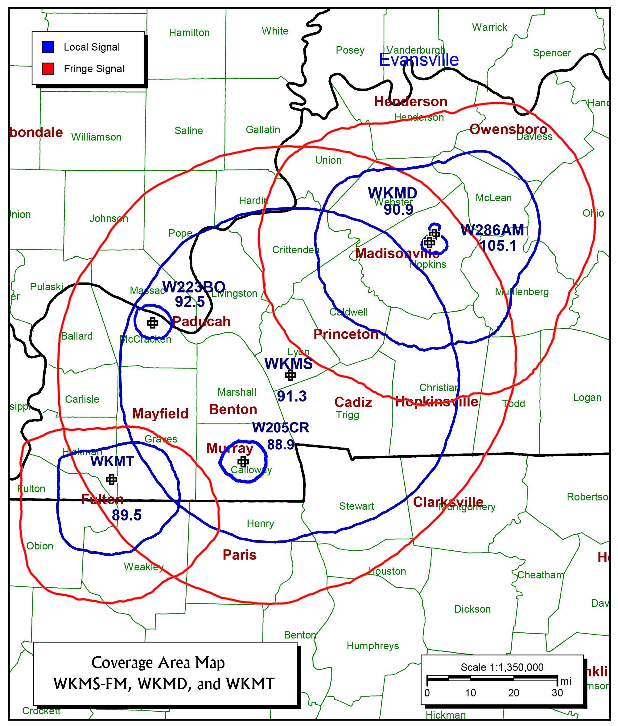 frequencies  u0026 coverage area