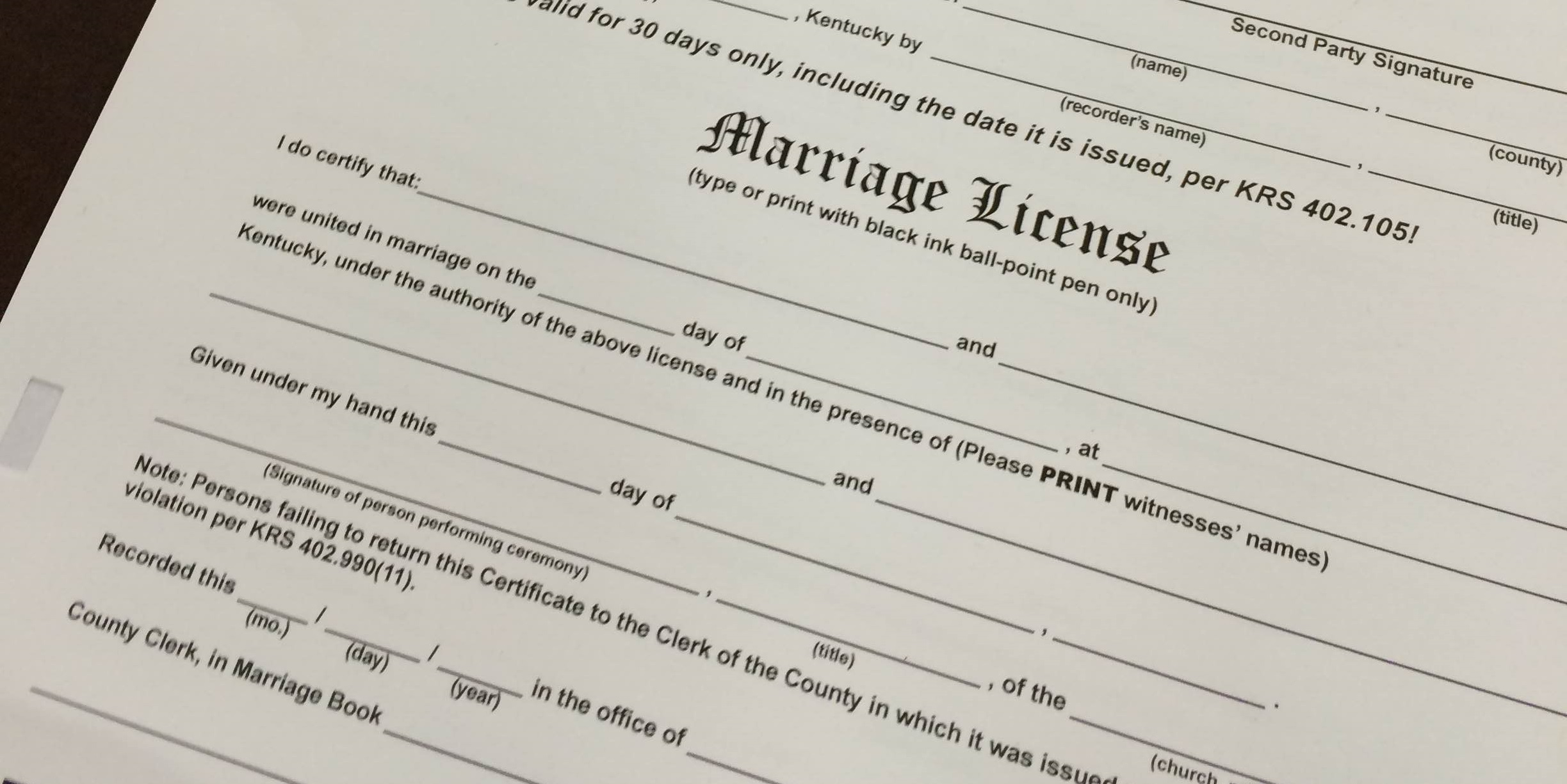 Couples Seek Legal Costs in Kentucky Marriage License Case | WKMS