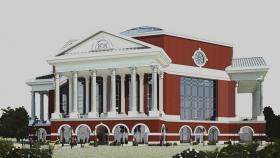 Rendering of planned library in 2012